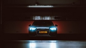 audi, front view, lights, light - wallpapers, picture