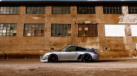 auto, automobile, porsche, gray, side view - wallpapers, picture
