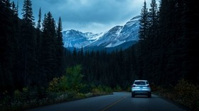 auto, road, mountains, movement - wallpapers, picture