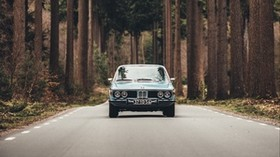 auto, road, front view, trees - wallpapers, picture
