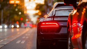 auto, headlight, movement, traffic congestion - wallpapers, picture