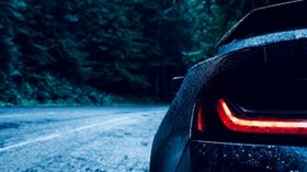 auto, headlight, drops, blur - wallpapers, picture