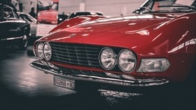 auto, retro, classic, lights - wallpapers, picture