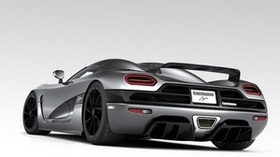 auto, sports, style, gray, rear view - wallpapers, picture