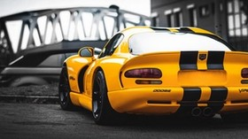 auto, sports car, yellow, rear view - wallpapers, picture