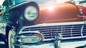 auto, vintage, front, headlight - wallpapers, picture