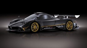auto, zonda, gray, left view - wallpapers, picture
