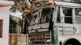 bus, festival, decoration, jaipur, india - wallpapers, picture