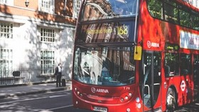 bus, street, buildings - wallpapers, picture