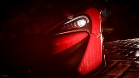 car, headlight, drops, rain, art - wallpapers, picture