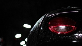 car, headlight, drops, moisture, night, darkness - wallpapers, picture