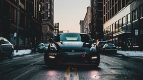 car, city, street, front view - wallpapers, picture