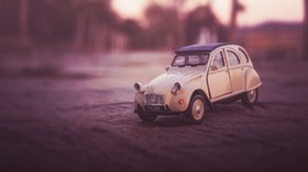 car, toy, retro, side view - wallpapers, picture