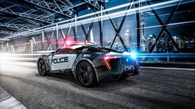 car, police, sports car, car, lights - wallpapers, picture