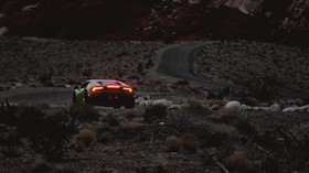 car, sports car, mountains, lights, terrain, rocks - wallpapers, picture