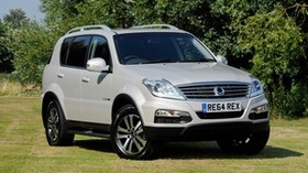 car, ssangyong, 2014, white, rexton - wallpapers, picture