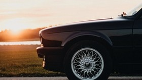car, side view, front, wheel, sunset - wallpapers, picture