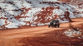 car, SUV, black, mountains, off-road, ride - wallpapers, picture