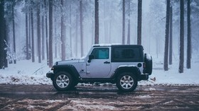 car, SUV, road, winter - wallpapers, picture