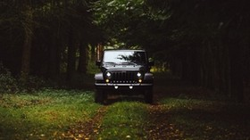 car, SUV, front view, grass - wallpapers, picture