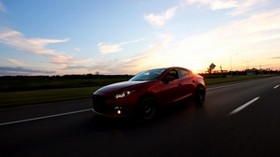 car, sunset, movement - wallpapers, picture
