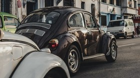 cars, retro, street, traffic - wallpapers, picture