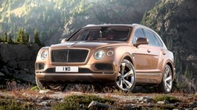 bentley, bentayga, brown, side view - wallpapers, picture