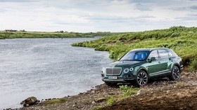 bentley, bentayga, side view - wallpapers, picture