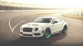 bentley, continental, gt3-r, white, side view - wallpapers, picture