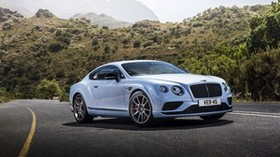 bentley, continental, gt, white, side view, road - wallpapers, picture