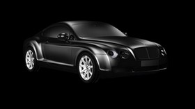 bentley continental gt, bentley, bw, gray, luxurious - wallpapers, picture