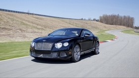 bentley, continental, gt, black, side view - wallpapers, picture