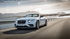 bentley, continental, gt, v8, convertible, side view - wallpapers, picture