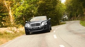 bentley, continental, gtc, front view, road - wallpapers, picture
