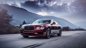 bentley, flying spur, movement - wallpapers, picture