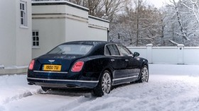 bentley, mulsanne, black, side view - wallpapers, picture