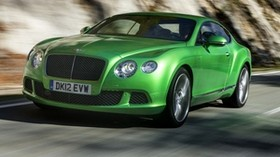 bentley green side view - wallpapers, picture
