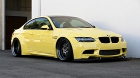 BMW, e92, yellow, side view - wallpapers, picture