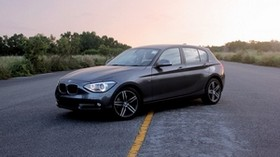 bmw 118, bmw, car, sedan, gray, side view, road, asphalt - wallpapers, picture