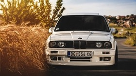 bmw, 325i, e30, white, auto - wallpapers, picture