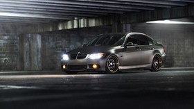 bmw, 3 series, gray, side view - wallpapers, picture