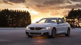 bmw, 435i, side view, white - wallpapers, picture
