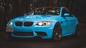 bmw 5, bmw, side view, blue - wallpapers, picture