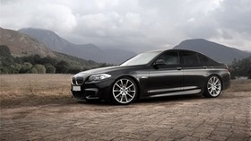 bmw, 5, black, side view, f10 - wallpapers, picture