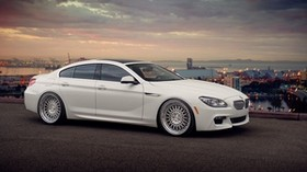 bmw, 650i, gran coupe, side view, white - wallpapers, picture