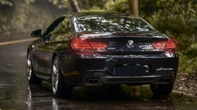 bmw 650i m sport, bmw, car, sports, rear view, coupe, navy - wallpapers, picture
