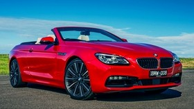 bmw, 6-series, 640i, convertible, red - wallpapers, picture