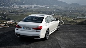 bmw, 750li, xdrive, white, rear view - wallpapers, picture
