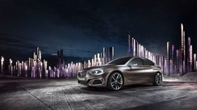 bmw, compact, side view, night - wallpapers, picture