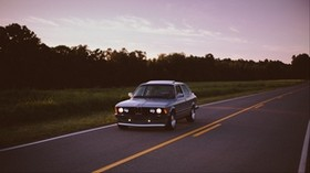 bmw, road, movement, evening - wallpapers, picture